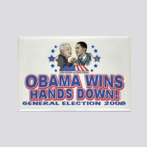 Obama Arm Wrestles McSame Rectangle Magnet