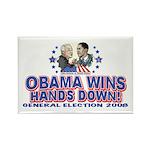 Obama Arm Wrestles McSame Rectangle Magnet