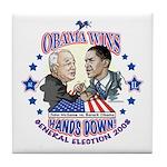 Obama Arm Wrestles McSame Tile Coaster