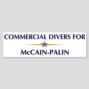 COMMERCIAL DIVERS for McCain- Bumper Sticker