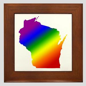 Wisconsin Gay Pride Framed Tile