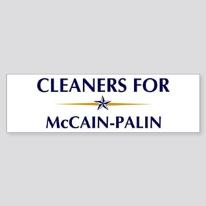 CLEANERS for McCain-Palin Bumper Sticker