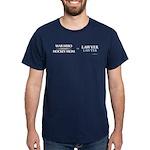 War Hero, Hockey Mom vs Lawyers Dark T-Shirt