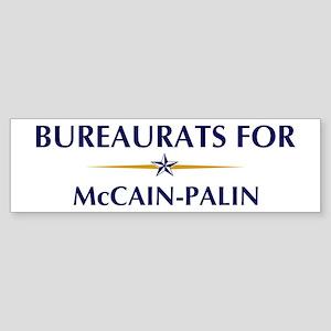BUREAURATS for McCain-Palin Bumper Sticker