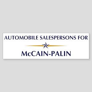 AUTOMOBILE SALESPERSONS for M Bumper Sticker