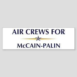 AIR CREWS for McCain-Palin Bumper Sticker