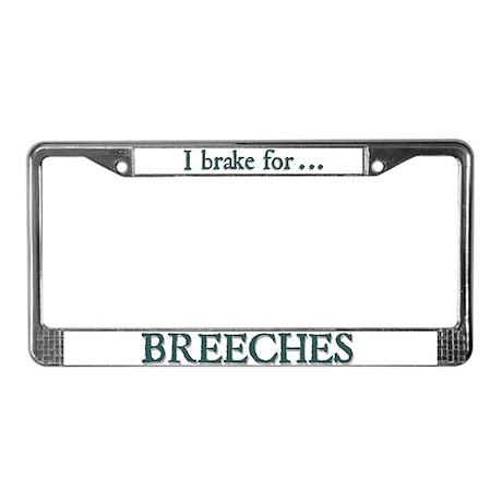 Breeches License Plate Frame