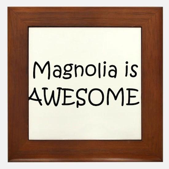 Cool Magnolia Framed Tile