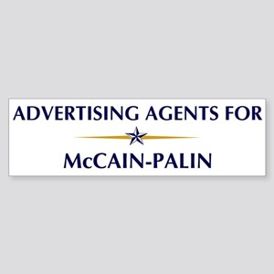 ADVERTISING AGENTS for McCain Bumper Sticker