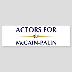 ACTORS for McCain-Palin Bumper Sticker