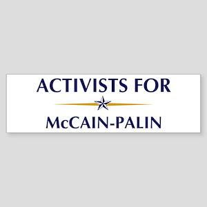 ACTIVISTS for McCain-Palin Bumper Sticker