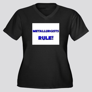 Metallurgists Rule! Women's Plus Size V-Neck Dark