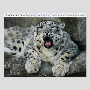 Snow Leopard B007 Wall Calendar