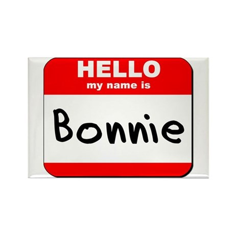 Hello my name is Bonnie Rectangle Magnet