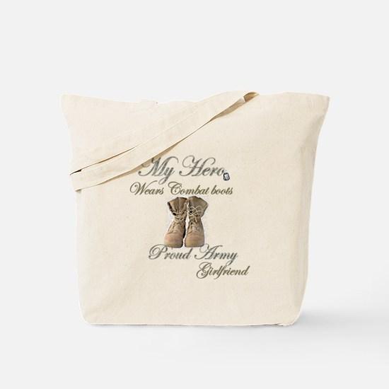 Combat boots Proud girlfriend Tote Bag