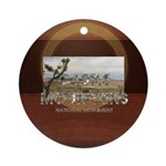 Abh Castle Mountains Round Ornament