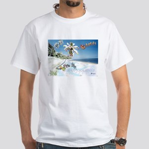 Tropical Snow Christmas/Holiday White T-Shirt