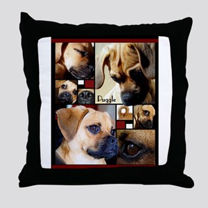 Puggle Parts Throw Pillow