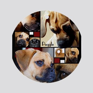 Puggle Parts Ornament (Round)