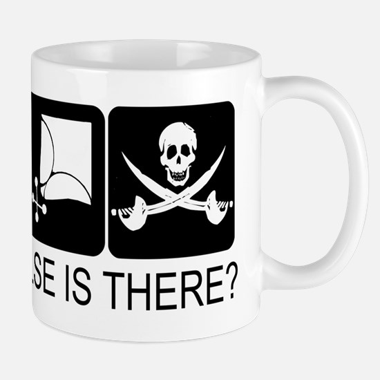 Drink Wench Pirate on light c Mug
