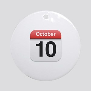 Apple iPhone Calendar October 10 Ornament (Round)