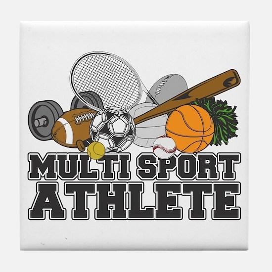 Multi-Sport Athlete Tile Coaster