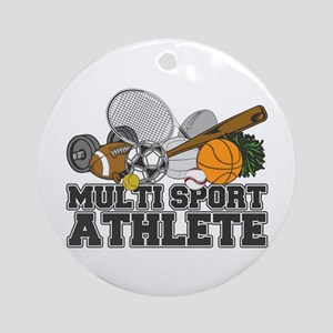 Multi-Sport Athlete Ornament (Round)
