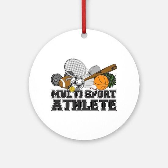Multi-Sport Athlete Ornament (Round)