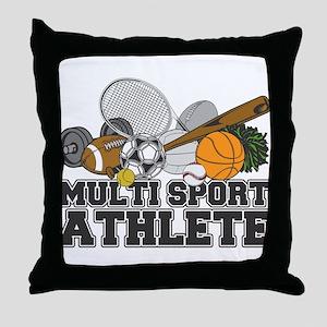 Multi-Sport Athlete Throw Pillow