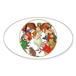 ALICE BY J W SMITH Oval Sticker (50 pk)