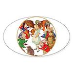 ALICE BY J W SMITH Oval Sticker (10 pk)