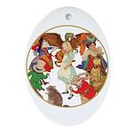 ALICE BY J W SMITH Oval Ornament