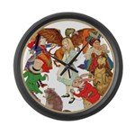 ALICE BY J W SMITH Large Wall Clock