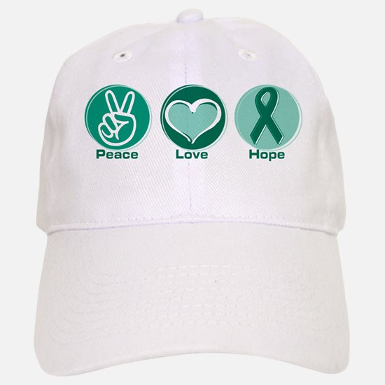 Peace Love Green Hope Baseball Baseball Cap