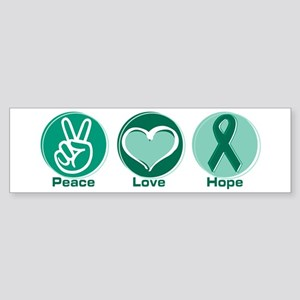 Peace Love Gr Hope Sticker (Bumper)