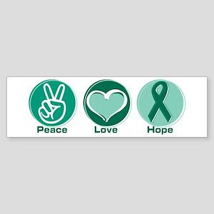 Peace Love Green Hope Bumper Sticker