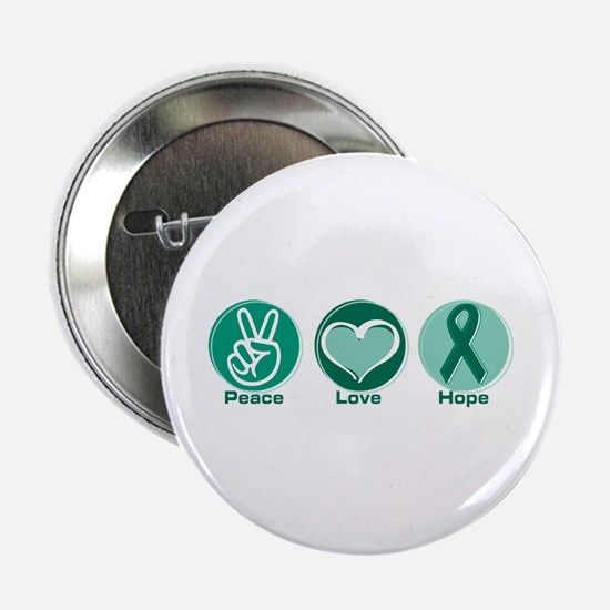 "Peace Love Green Hope 2.25"" Button"