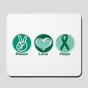 Peace Love Green Hope Mousepad