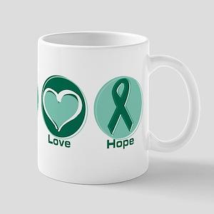 Peace Love Gr Hope 11 oz Ceramic Mug
