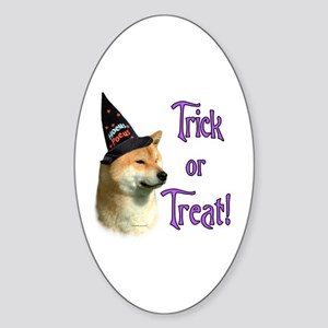 Shiba Trick Oval Sticker