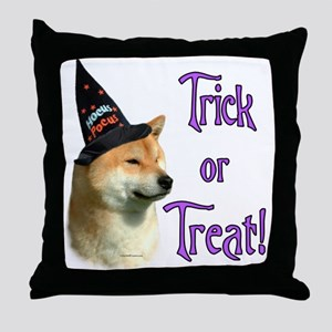 Shiba Trick Throw Pillow