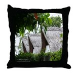 Straw roof houses pillow