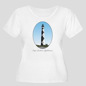 Cape Lookout Lighthouse Women's Plus Size Scoop Ne