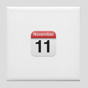 Apple iPhone Calendar November 11 Tile Coaster
