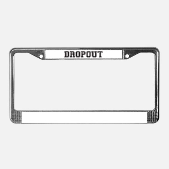 Dropout License Plate Frame