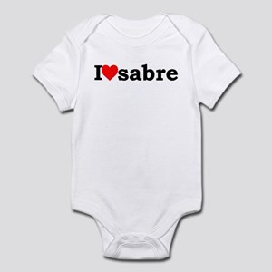 I heart sabre Infant Bodysuit