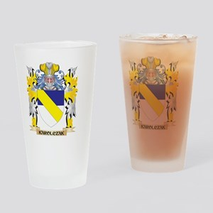 Karolczak Coat of Arms - Family Cre Drinking Glass