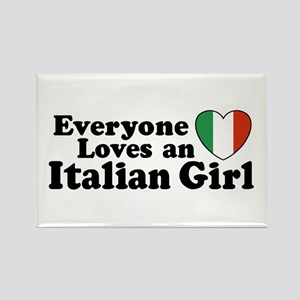 Everyone loves an italian girl Rectangle Magnet