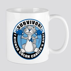 Colon Cancer Survivor: Boxing Cat Mug