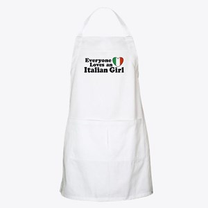 Everyone loves an italian girl BBQ Apron